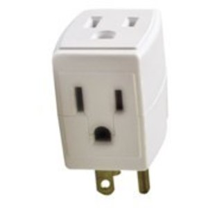 Leviton 692-W 15 Amp, NEMA 5-15, 3-Outlet Adapter, White