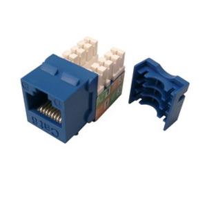 Shaxon BM703U810 Keystone Jack, CAT6, RJ45 to 110, Blue