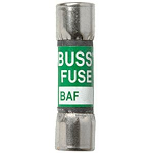 "Eaton/Bussmann Series BAF-1 Fuse, 1 Amp Fast-Acting Midget, Fibre, 13/32"" x 1-1/2"", 250V"