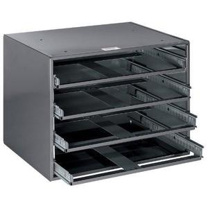 "Klein 54474 4-Box Slide Rack - HxWxD: 11.75""x15.25""x10.75"""