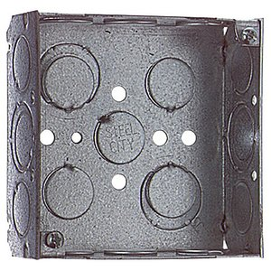 "Steel City 521511234EWGB 4"" Square Box, Welded, Metallic, 1-1/2"" Deep"
