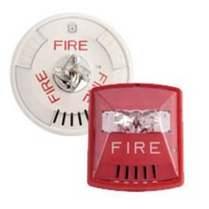 Wheelock HSR Horn/Strobe Combination , 12/24VDC, Wall Mount, Red