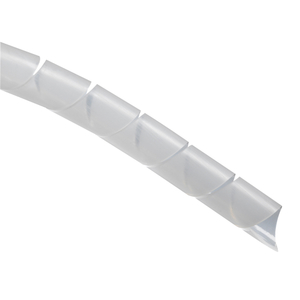 "Thomas & Betts SRPE-500-9-C Spiral Wrap, Polyethylene, Natural, 1/2"" Diameter, 100'"