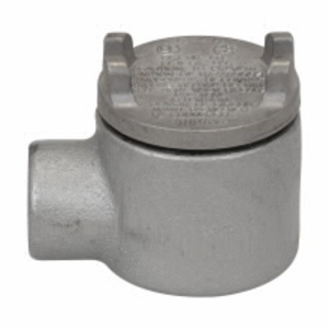 """Cooper Crouse-Hinds GUA24 Conduit Outlet Box, Type GUA, (1) 3/4"""" Hubs, Malleable"""