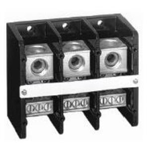 Allen-Bradley 1492-PD3163 Distribution Block, 335A, 600V AC/DC, 3P, Aluminum, 1 In/6 Out