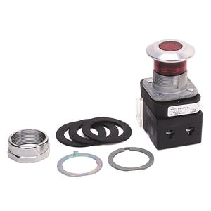 Allen-Bradley 800T-FXQH2RA1 Push Button, Push-Pull, 30mm, Illuminated, Mushroom Head, Red
