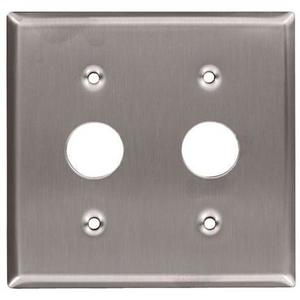Leviton 84072-40 Keylock Switch Wallplate, 2-Gang, Stainless Steel