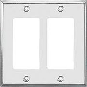 Mulberry Metal 97402 Decora Wallplate, 2-Gang, Stainless Steel