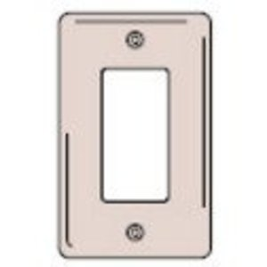 Hubbell-Kellems SS26 Decora Wallplate, 1-Gang, 302 Stainless Steel