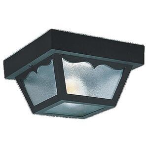 Sea Gull 7569-32 Ceiling Light, Outdoor, 2-Light, 60W, Black