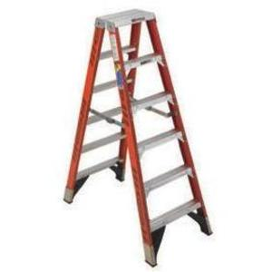 Werner Ladder T7418 18' Twin Step Ladder, 300 lbs