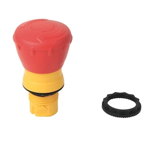 Allen-Bradley 800FP-MT44 Push Button, Twist to Release, 40mm Mushroom Head, Red, Plastic