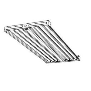 Hubbell-Columbia Lighting LHA4-454-NU-4EPU-F554841 High Bay Fixture, 4', 4-Lamp, T5HO, 54W, 120-277V