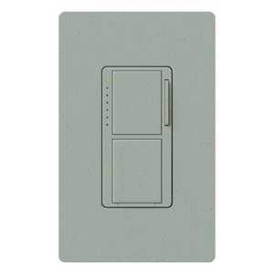 Lutron MA-L3S25-BG Incandescent/Halogen Dual Dimmer and Switch, Bluestone