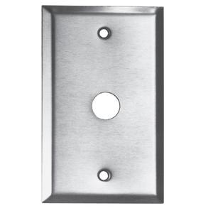 "Edwards 149-1 7/8"" Pushbutton Device Receptable Wallplate, 1-Gang, Stainless Steel"