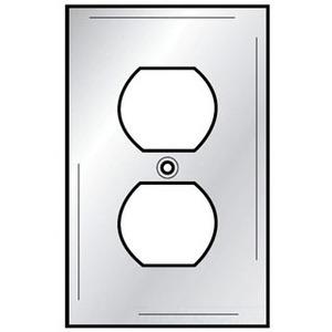 Hubbell-Wiring Kellems SSJ8 Duplex Receptacle Wallplate, 1-Gang, Stainless Steel, Jumbo