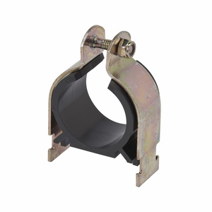 "Cooper B-Line BVT087YZN Conduit Clamp, Type: Vibra-Clamp (Cushioned), Size: 7/8"", Steel/Zinc"