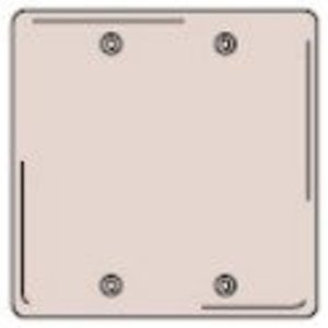Hubbell-Kellems SS23 Blank Wallplate, 2-Gang, Stainless Steel