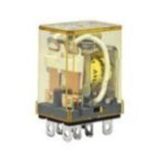IDEC RH2B-UAC24V Relay, Ice Cube, Compact, 8-Blade, 10A, 2P, 24VAC Coil, No Options