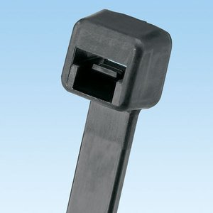"Panduit PLT3H-L0 Cable Tie, Light-Heavy, 11.4"" Long, UV Nylon, Black, 50/Pack"