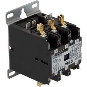 Square D 8910DPA33V14 Contactor, Definite Purpose, 30A, 600VAC, 24VAC Coil, 3PH, 3P