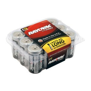 Rayovac ALC-12PPJ 1.5V C Battery - 12-Pack