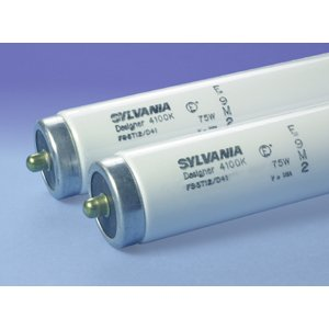 "SYLVANIA F96T12/DX Fluorescent Lamp, Instant Start, T12, 96"", 75W, 6500K"