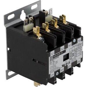 Square D 8910DPA34V02 Contactor, Definite Purpose, 30A, 600VAC, 120VAC Coil, 3PH, 4P