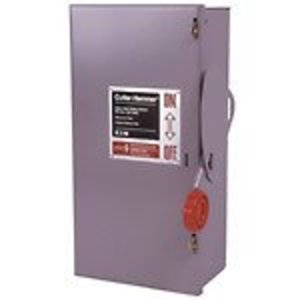 Eaton DH462UGK Safety Switch, 60A, 600VAC, 250VDC, 4P, Non-Fusible, NEMA 1