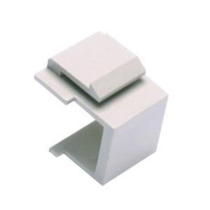 Shaxon BM303WIN Snap-In Blank Keystone Module, White, package of 10