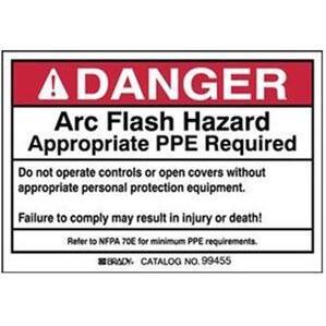 Brady 99455 Arc Flash/Shock Hazard Label
