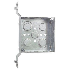 "Steel City 52151V1234 4"" Square Box, Welded, Metallic, 1-1/2"" Deep, SV Bracket"