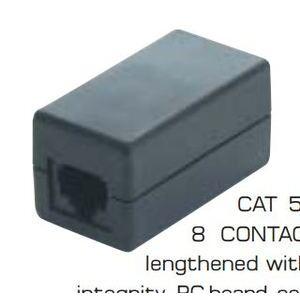 Quest NKJ-5001 Modular Plug, Inline Coupler, Cat5e, RJ45, 8P8C, Black