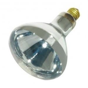 Satco S4366 Incandescent Reflector Heat Lamp, R40, 375W, 120V