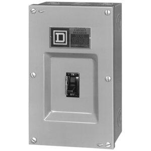 Square D FA100S Breaker, Molded Case, Enclosure, F Frame, 15 - 100A, 3P, NEMA 1