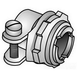 "OZ Gedney C-5 MC/AC/Flex Connector, Type: Squeeze, Size: 3/8"", Malleable Iron"