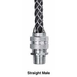 """Hubbell-Kellems 07401015 Str Male, Dcg, .37-.50"""", 3/4"""" W/mesh"""