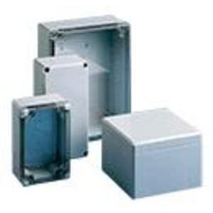"""Hoffman Q1289PCD Enclosure, NEMA 4X, Opaque Screw Cover, 4.45 x 2.87 x 3.11"""""""