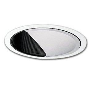 "Halo 425P 6"" Trim Wall Wash White With Black Baffle"