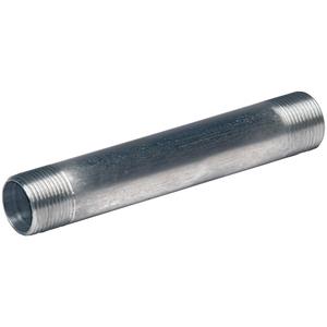 "Multiple ALC050X400 Rigid Nipple, 1/2 x 4"", Threaded, Aluminum"