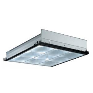 Lithonia Lighting PAR3-2U Parabolic Fixture, 2 x 2', 3-Lamp, T8 U-Shaped, 32W, 120-277V