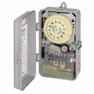 Intermatic R8806P101C Mechanical Timer, 24 Hour, DPST, NEMA 3R, 25A, 208-277V