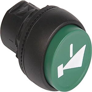 Allen-Bradley 800FP-E9 Push Button, Extended, No Cap, Plastic, Operator Only