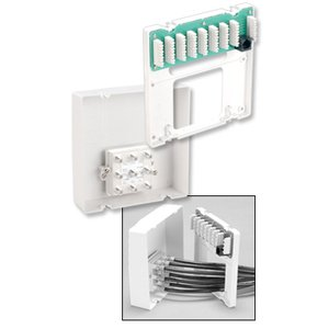 DataComm Electronics 70-0050 Cabling Panel, 4 Line Telephone, 8 Connections, 8-Way Video, 1GHz