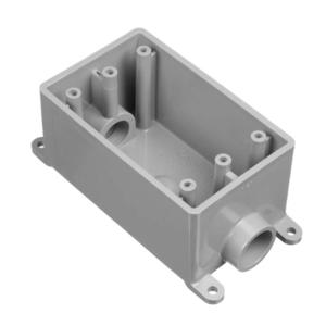 "Carlon E981FFN FS Box, 1-Gang, 1"" Hubs, Feed-Thru, Type FSC, Non-Metallic"