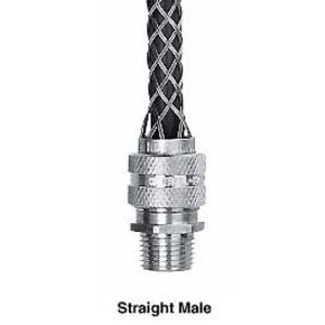 """Hubbell-Kellems 07401004 Str Male, Dcg, .18-.25"""", 1/2"""" W/mesh"""