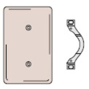 Hubbell-Wiring Kellems NP14I Standard Blank Wallplate, 1-Gang, Ivory, Strap Mount