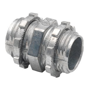 "Bridgeport Fittings 1191-DC2 Box Connector, 1/2"", Zinc Die Cast"