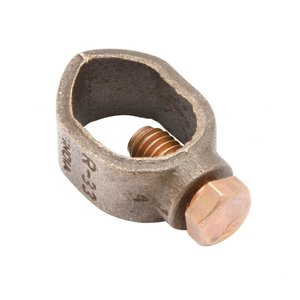 "Burndy GRL5 Ground Rod Clamp, 5/8"", 10 - 2 AWG, Direct Burial Rated, Copper"