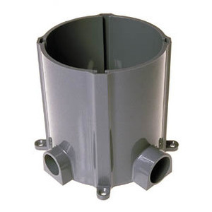"Hubbell-Raco 5511 Floor Box, Round, (2) 1"" & 3/4"" Hubs, For Concrete Pour, Non-Metallic"